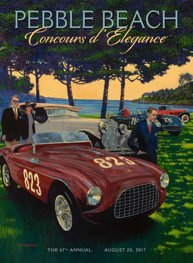 2017 Pebble Beach Concours Poster Art
