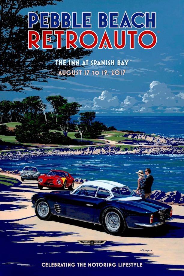 2017 Pebble Beach RetroAuto Poster Art