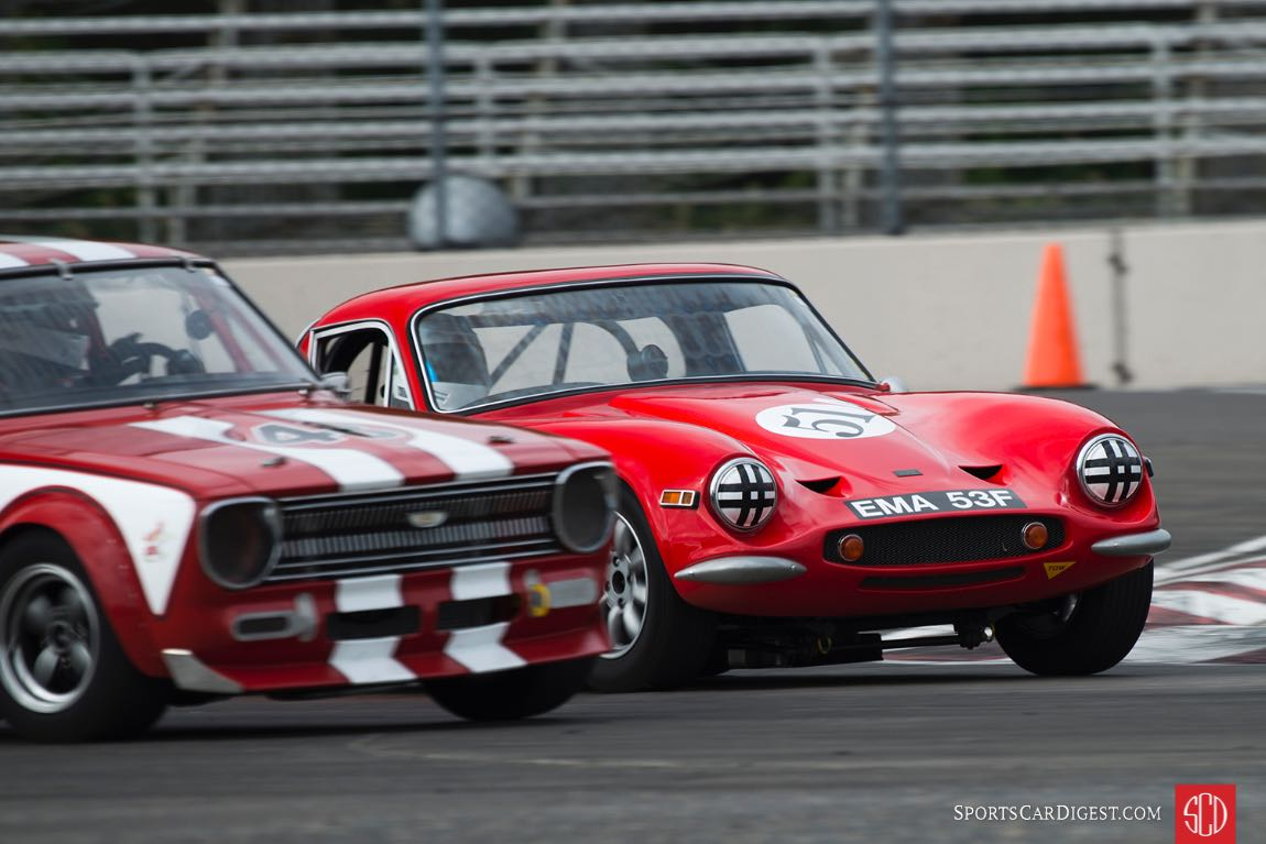 Kevin Shaha - 1967 Toyota Sprinter and Rick Carlile - 1969 TVR Vixen S2