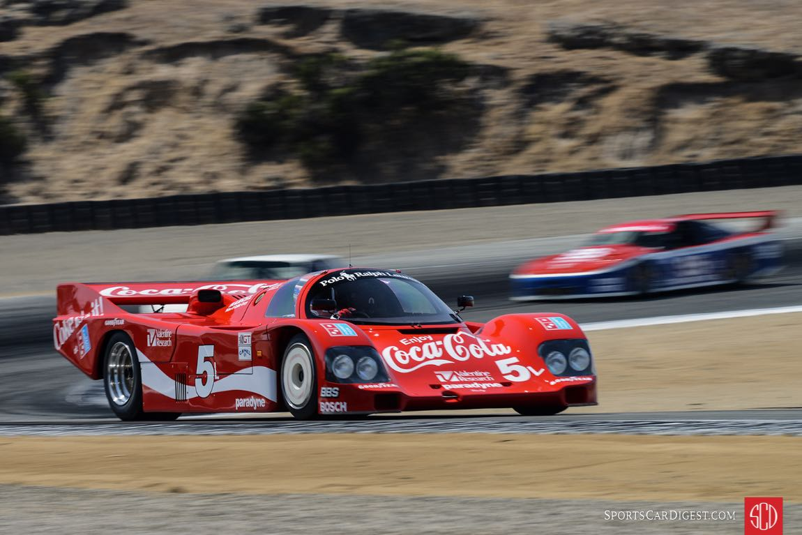 Lee Giannone's 1985 Porsche 962 in turn two Saturday morning