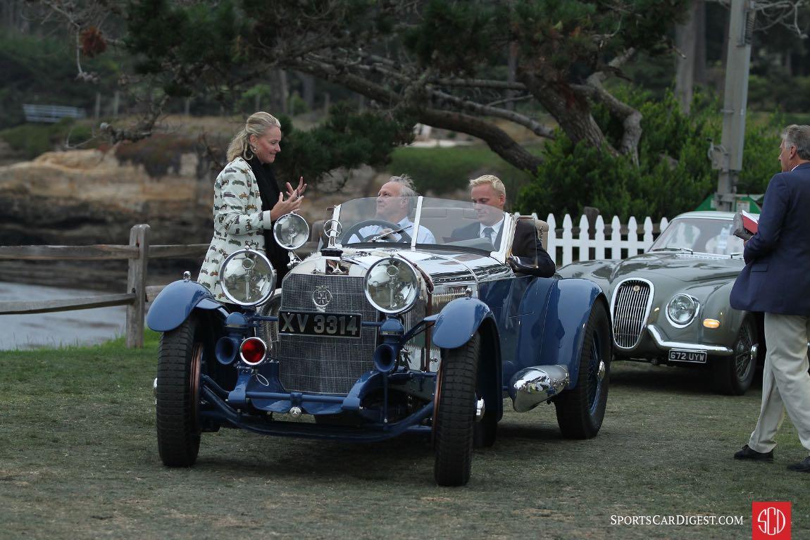 Start of a big day for the 1929 Mercedes-Benz S Barker Tourer, Best of Show Winner