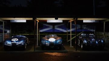 Night time for the Ecurie Ecosse paddock