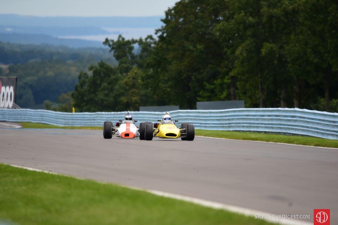 Geoff Brabham BT35 and Dave Handy BT29 enjoyed a fantastic battle.