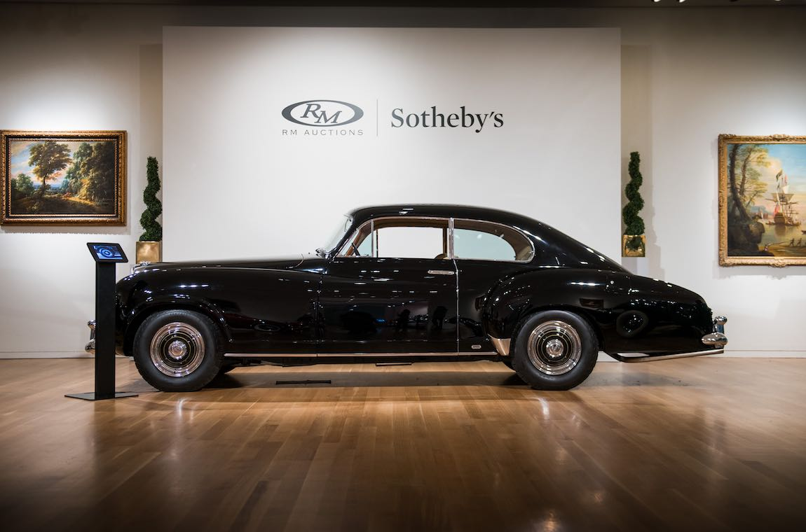 1954 Bentley R-Type Continental Fastback Sports Saloon by Franay Sold For $1,083,000