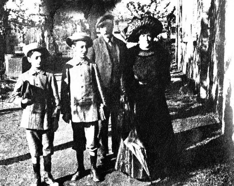 The Enzo Ferrari Family. The photo is presumably from the era of the first communion, around 1906). Enzo is the first on the left.