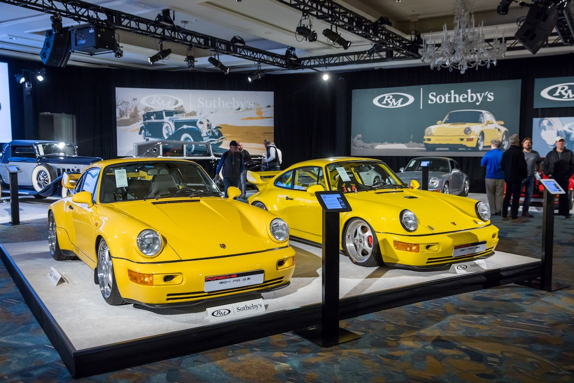 Porsche 964 Collection at RM Sotheby's Auction (photo: DeremerStudios.com)