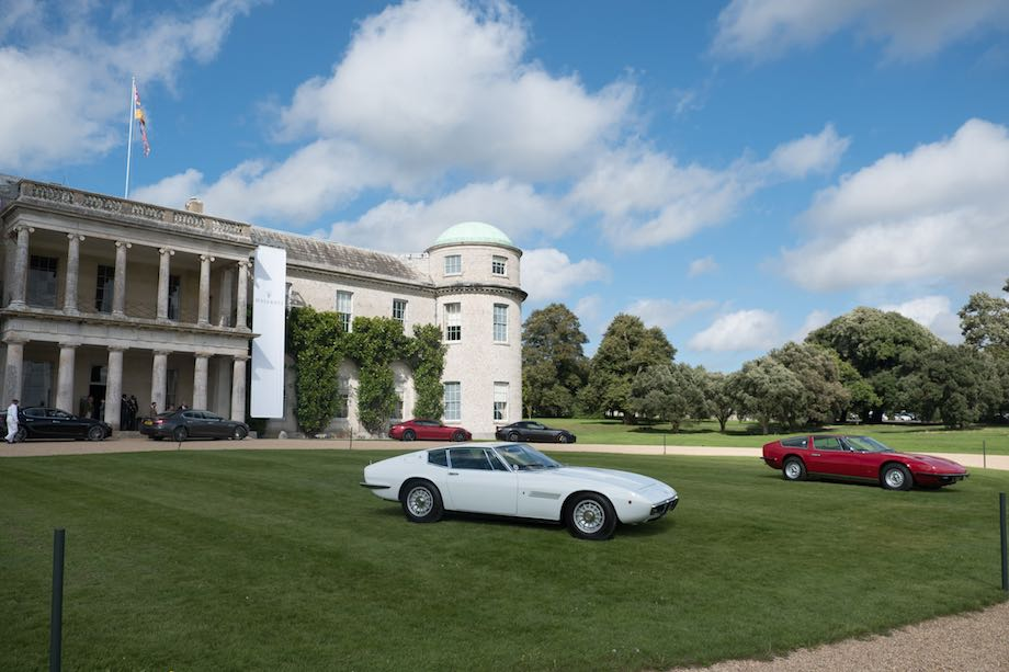 Maserati Display in front of Goodwood House
