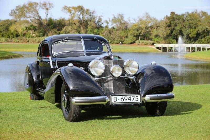 1938 Mercedes-Benz 540K Autobahn-Kurier, Best of Show Concours d'Elegance at the 2019 Amelia Island Concours