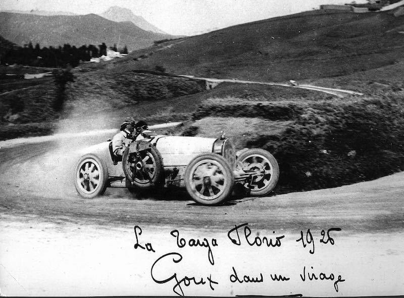 Jules Goux in the Bugatti Type 35T at the 1926 Bugatti Targa Florio