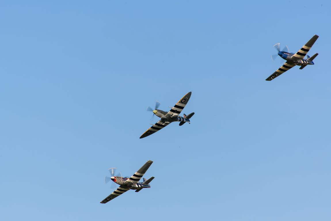 Spitfire and Typhoon Goodwood Revival
