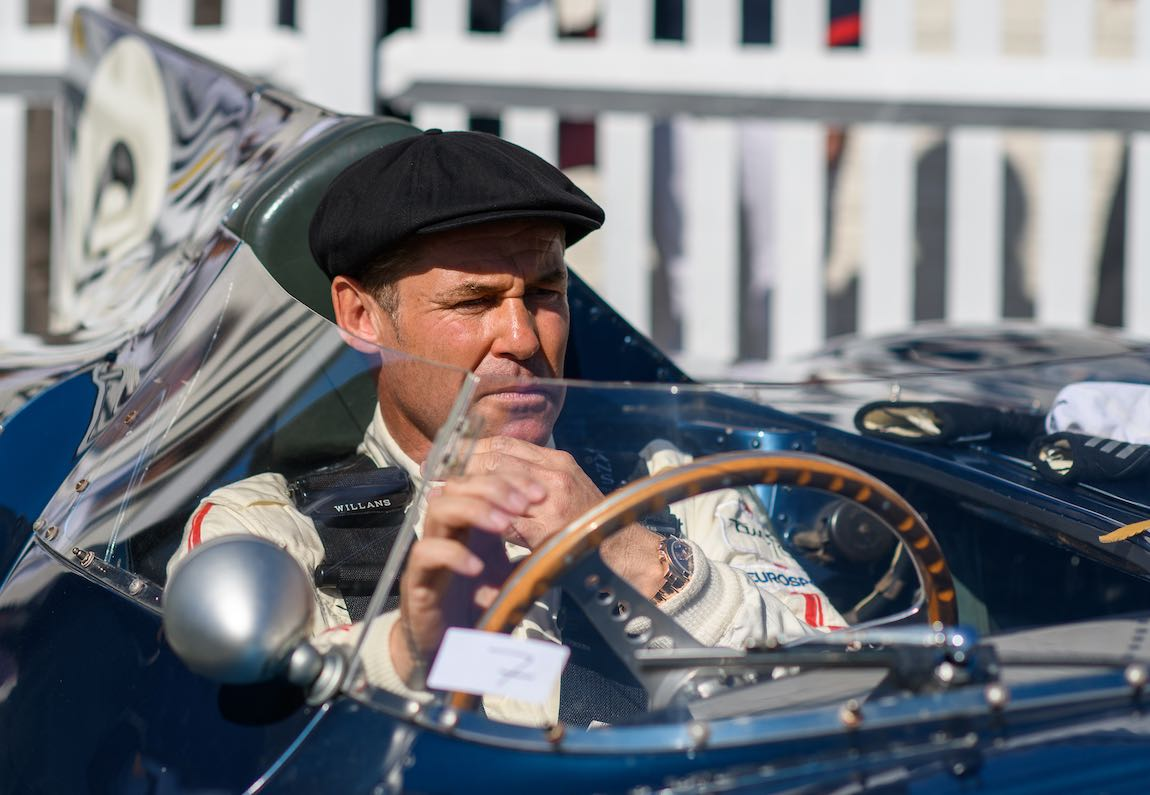 Tom Kristensen in the Ecurie Ecosse Jaguar D-Type