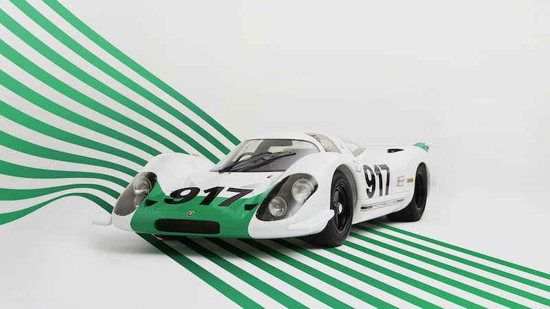 Porsche 917-001 with green and white colour scheme