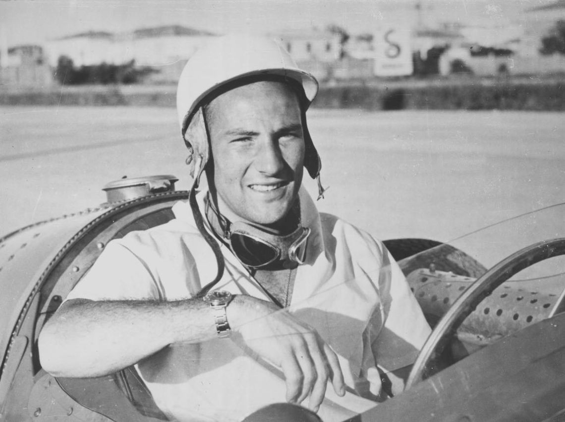 Stirling Moss testing the Maserati 250F (photo: Maserati SpA)