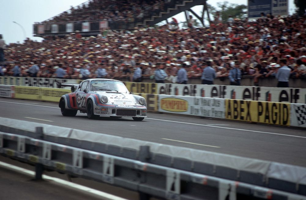 16 June 1974 24h Le Mans; No. 22: Herbert Muller and Gijs van Lennep in a 911 Carrera RSR Turbo 2.1 finished 2nd overall