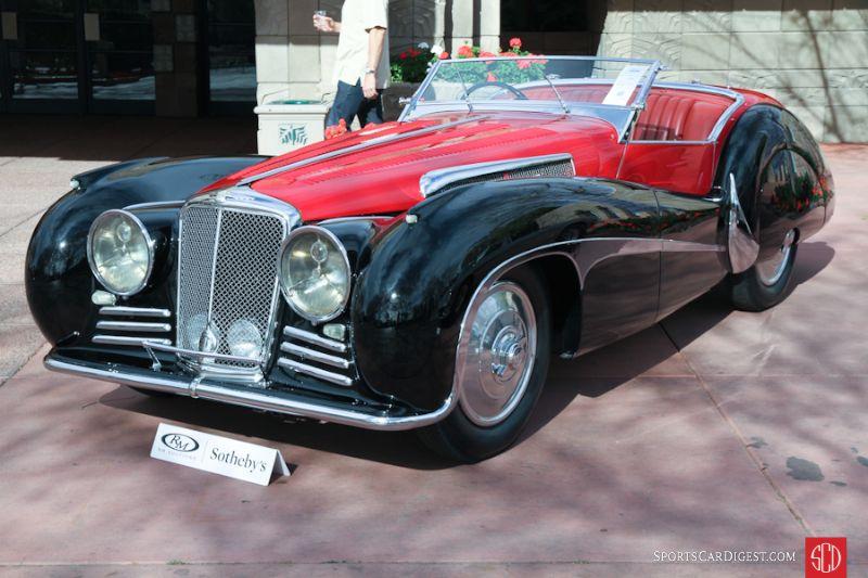 1939 SS Jaguar 100 2.5 Roadster, Body by Van den Plas