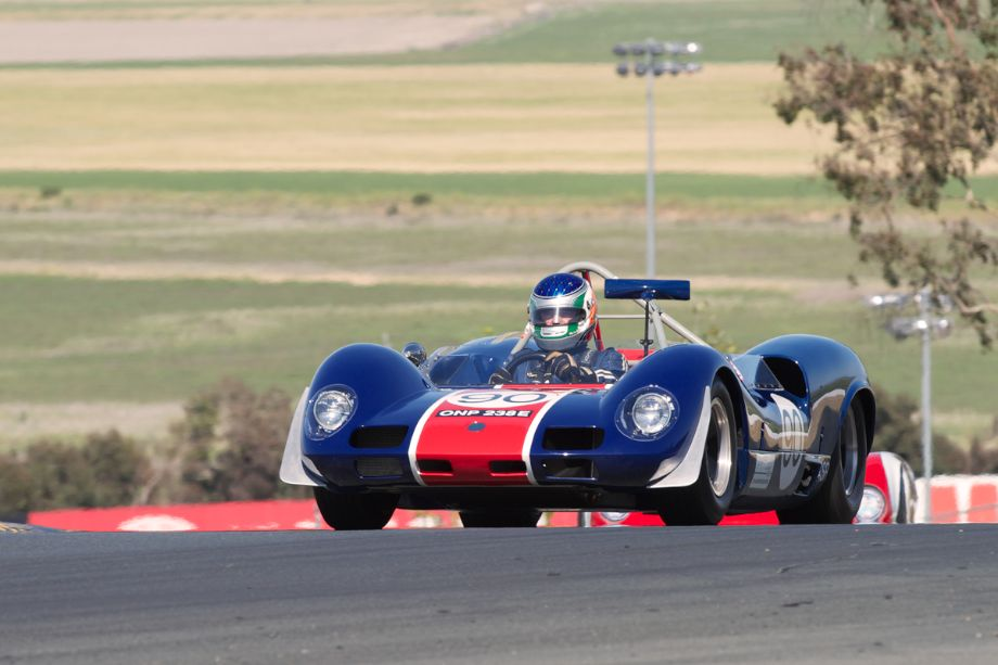 1966 Elva MK. 8 driven by Michael Malone in turn two.
