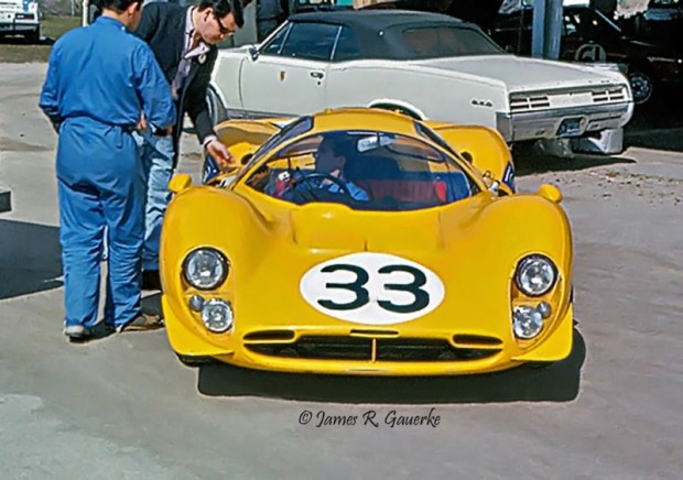 Ecurie Francorchamps Ferrari 412 P Willy Mairesse Jean Beurlys at Daytona 1967