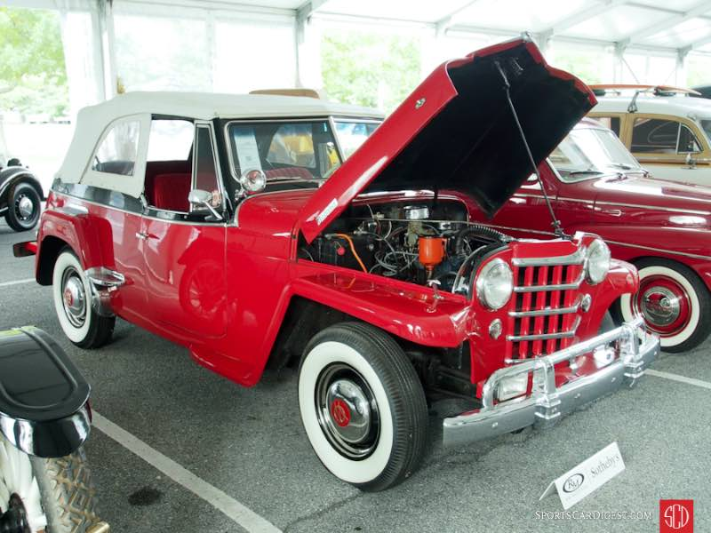 Willys Jeepster Phaeton on Red Willy Jeepster S