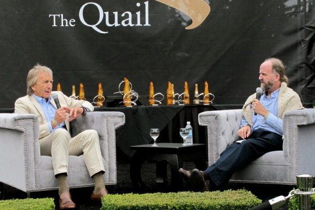 "Derek Bell (left) and Winston Goodfellow in their ""fireside chat"" at The Quail 2011.  Photo William Edgar"