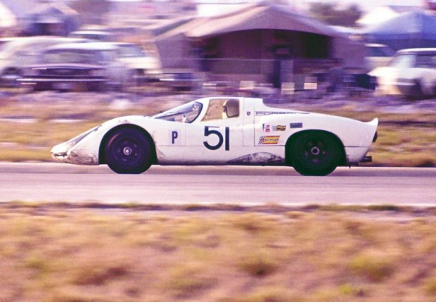 Vic Elford and Jochen Neerpasch drove this factory Porsche 907 to second place at Sebring in 1968.  They finished one lap behind another factory 907.  George Boron photo.