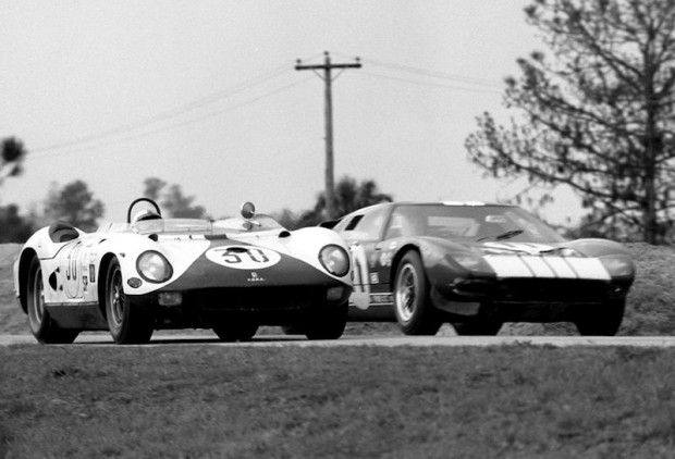 Mecom Ferrari 330P and Ford GT40