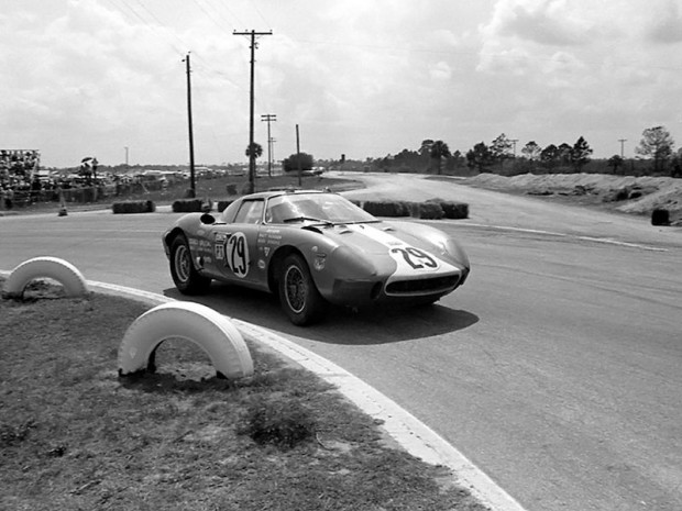 Mecom Ferrari 250LM of Walt Hansgen and a young Mark Donohue