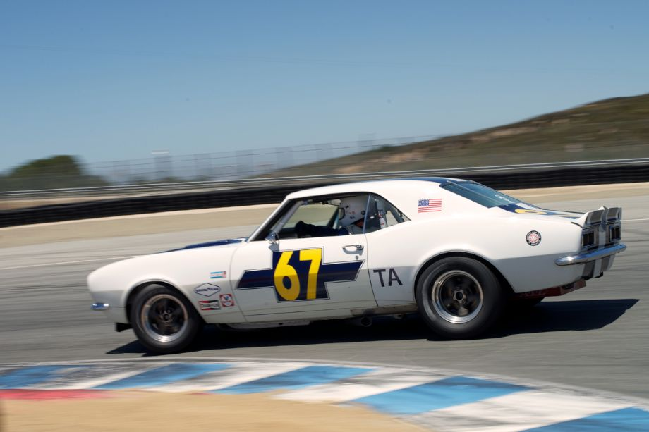 1968 Chevrolet Camaro driven by Walt Brown in turn eleven.