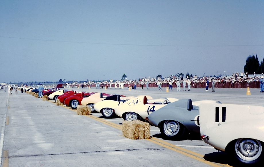 Starting grid at 1956 Sebring 12 Hours