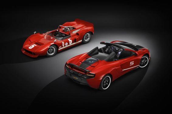 McLaren M1B and McLaren 650S Can-Am