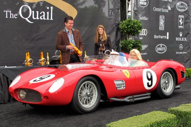 "1959 Ferrari 250 Testa Rossa ""TR59"" - Bruce McCaw, with passenger Alma Hill.  Photo William Edgar"