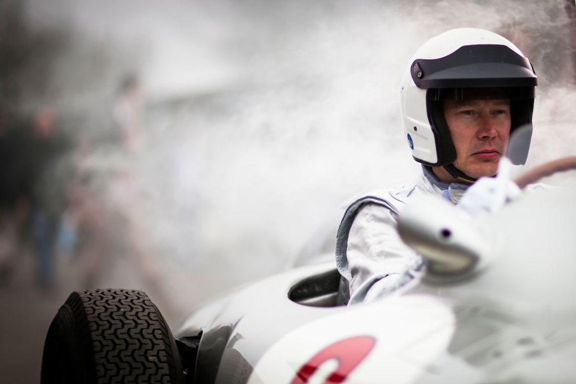 All business behind the wheel of the Mercedes-Benz W196 (Photo: Drew Gibson)