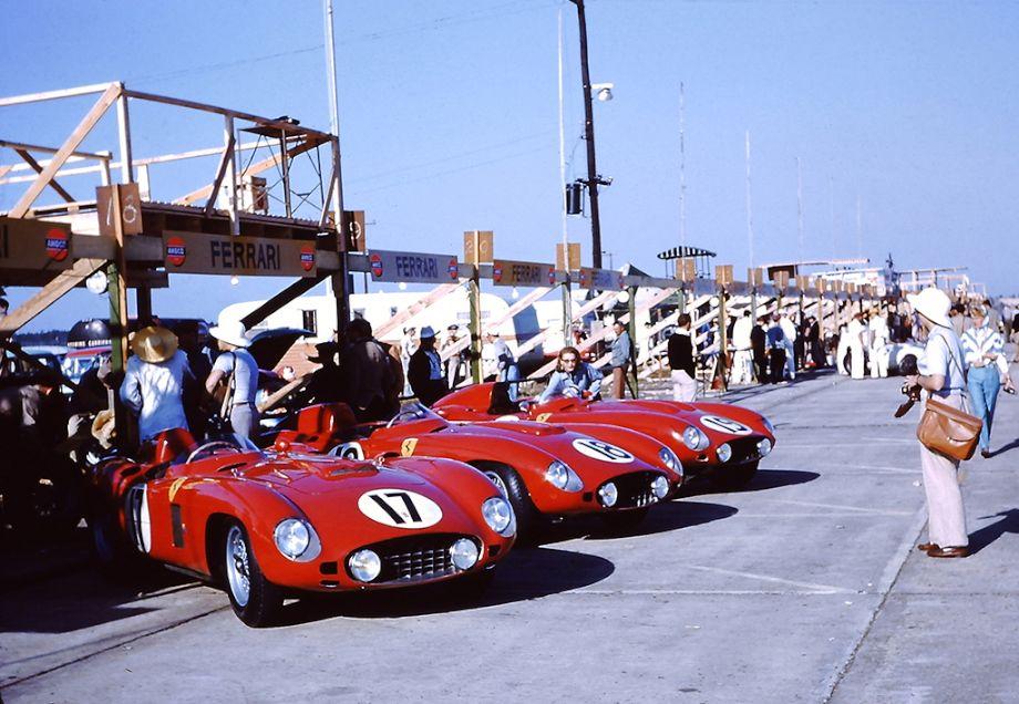 factory Ferrari team at Sebring in 1956, Ferrari 860 Monza, Ferrari 857 Monza