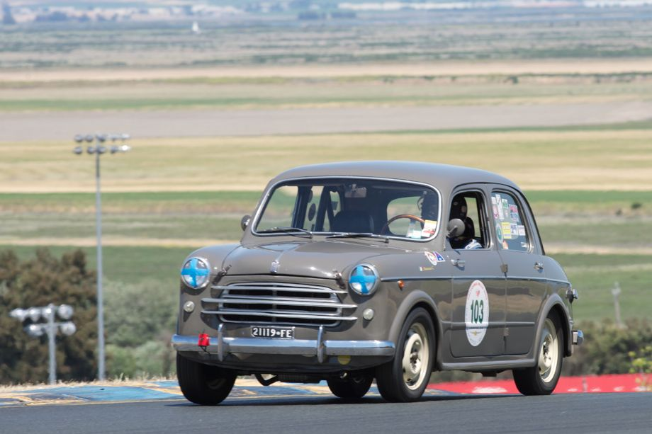 Howard Swig in his Fiat 1100 Berlina in turn two.