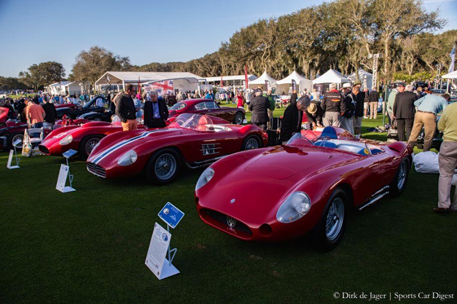 1956 Maserati 350S, 1957 Maserati 450S and 1957 Maserati 300S