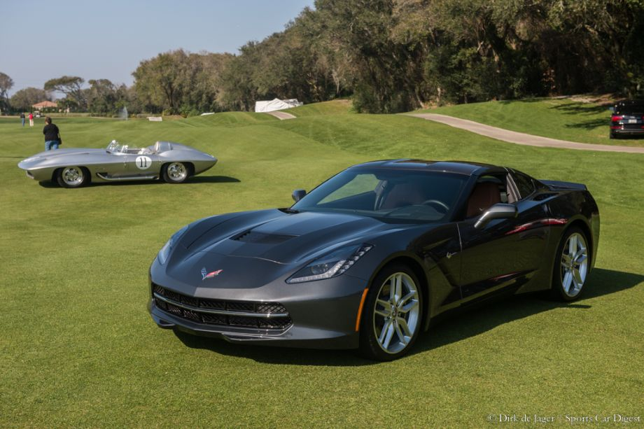 2014 Chevrolet Corvette Stingray and 1959 Chevrolet Corvette Stingray Concept