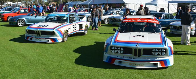 BMW CSLs - Cars and Coffee at the 2014 Amelia Island Concours