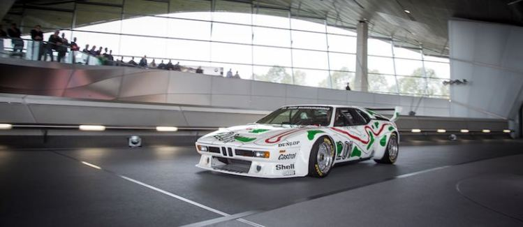 Masakuni Hosobuchi is driving the BMW M1 Procar at BMW Welt