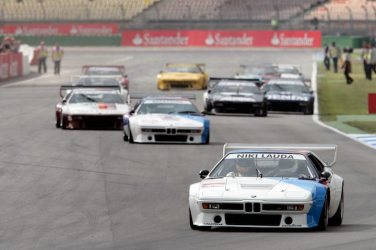 BMW M1 Procars battle during revival held at 2008 German Grand Prix