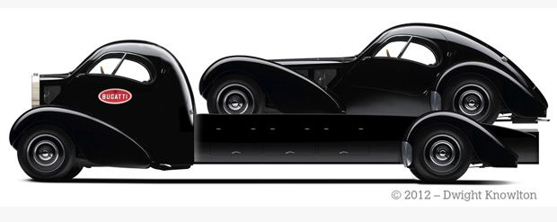 Bugatti Atlantic Bespoke Car Hauler