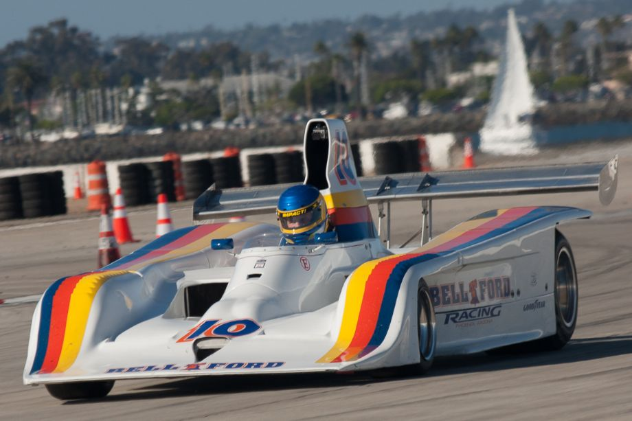 Brent Berge and his 1978 Lola T-133 during Sunday's race.