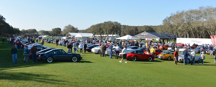 Cars and Coffee at Amelia Island Concours 2013