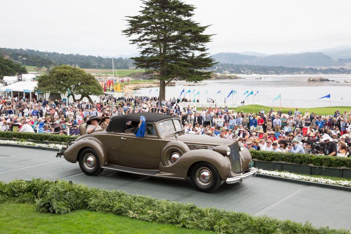 Class D: Packard, 1938 Packard 1607 Twelve Convertible Coupe, Jack Boyd Smith Jr., Elkhart, Indiana