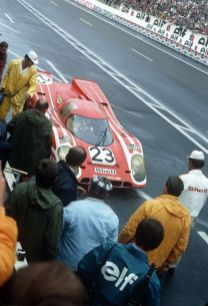 14 June 1970 24h Le Mans; No. 23: Hans Herrmann and Richard Attwood in a 917 K Coupe were overall winners