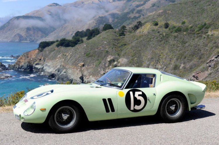 Mechanical and natural beauty - 1962 Ferrari 250 GTO and Pacific Ocean bluff