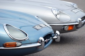 Jaguar E-Types at Goodwood Breakfast Club