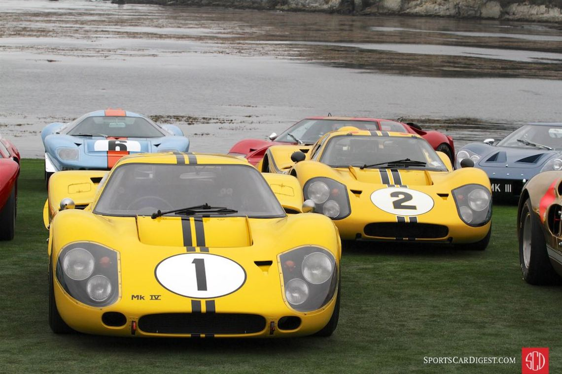 #1 and #2 Ford GT40 Mk IV