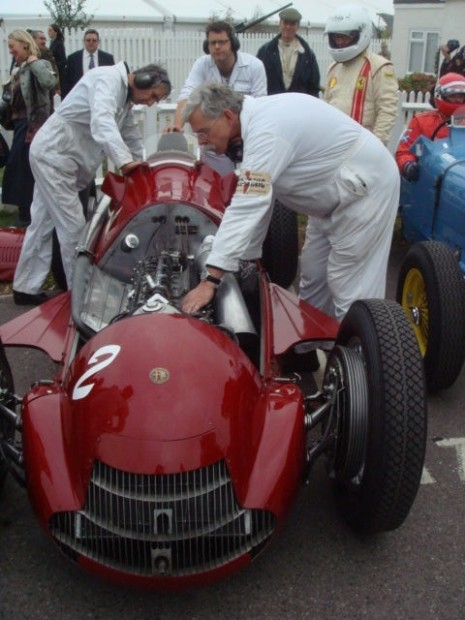 Amongst the special cars was Carlo Voegele's Alfetta 159, looked after by Jim Stoke's team.