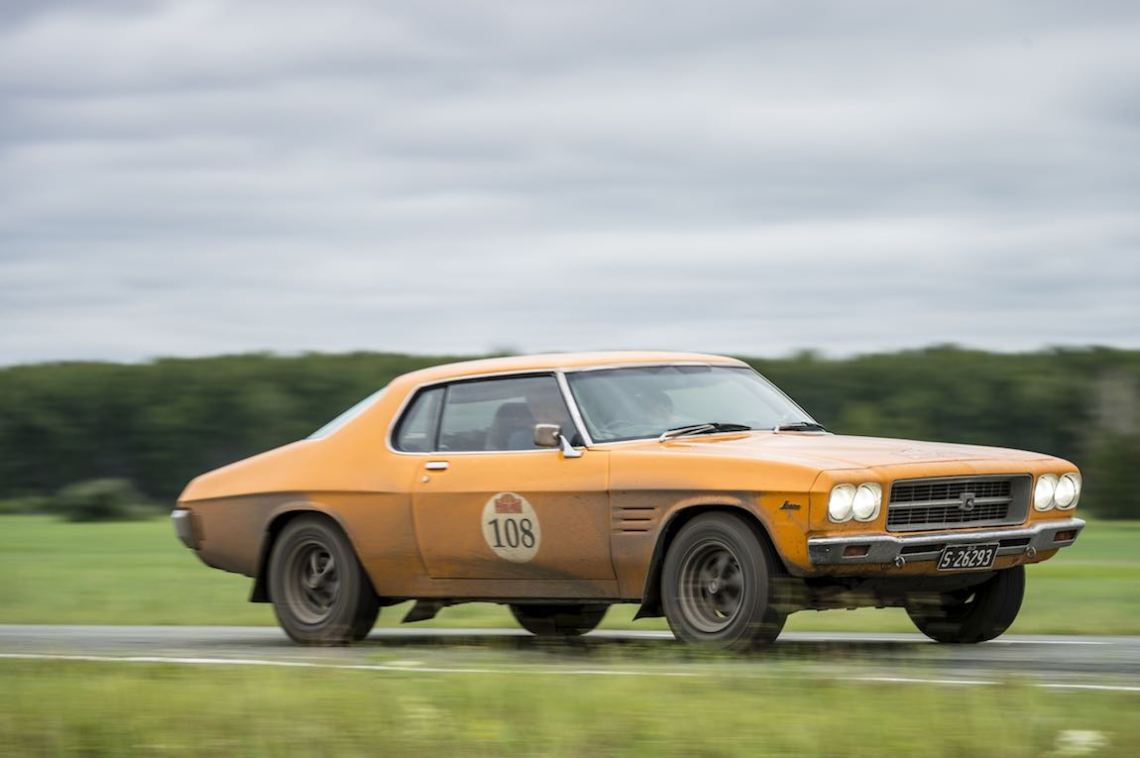 Car 108. Jan Sinclair(AUS) / Anne Sinclair(AUS)1971 - Holden Monaro5700, Peking to Paris 2016., Peking to Paris 2016. Day 16. Omsk - Tyumen