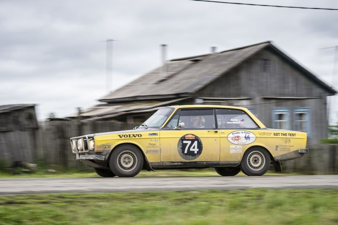 Car 74. Kerry Finn(AUS) / Andrew Webster(SGP)1969 - Volvo 142 1940, Peking to Paris 2016., Peking to Paris 2016. Day 16. Omsk - Tyumen