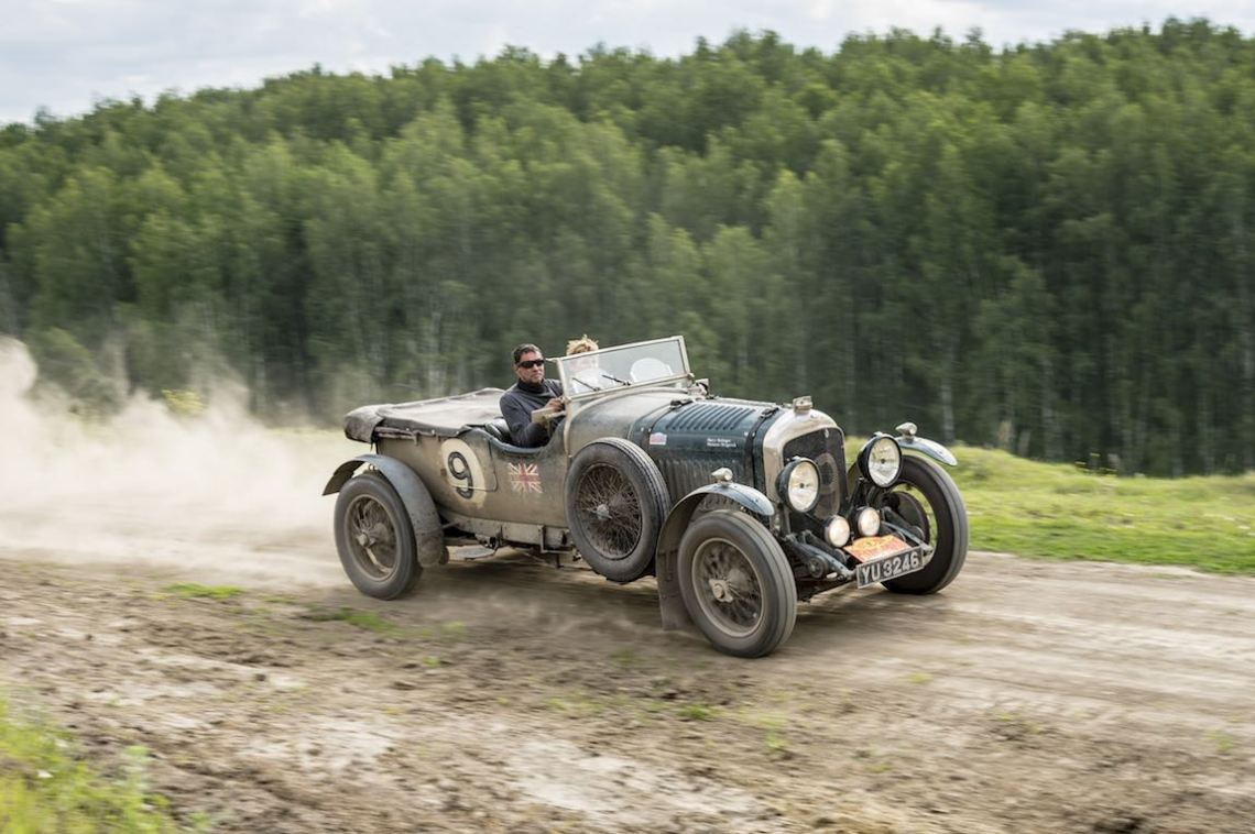 Car 09. Marco Rollinger(LU) / Marianne Hengesch(LU)1927 - Bentley Le Mans4500, Peking to Paris 2016., Peking to Paris 2016. Day 17. Tyumen - Ekaterinberg